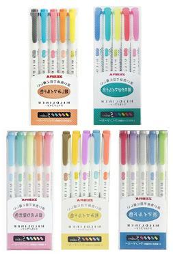 Zebra Mildliner Soft Color Pen Highlighter Double Sided Mark