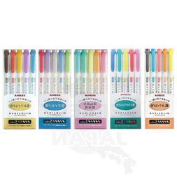Zebra Mildliner Soft Color Pen Highlighter Marker 5 color pe