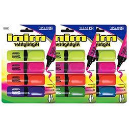 BAZIC Mini Desk Style Fluorescent Highlighters