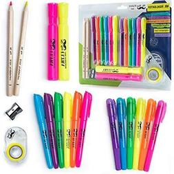 Mr. Book Covers & Accessories Pen- 18 Pc Highlighter Set, 6