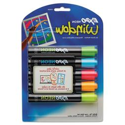 EXPO - Neon Dry Erase Marker, Bullet Tip, Assorted, 5 per Se