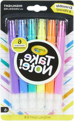 New Crayola Take Note Erasable and Vibrant Highlighters or U