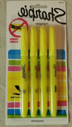 New: Sharpie Yellow Highlighter Markers Narrow Chisel Pack o
