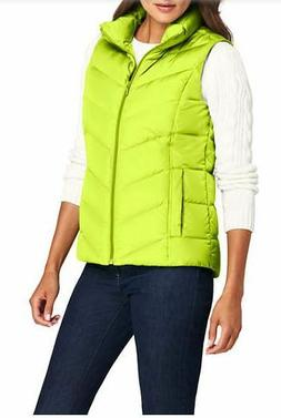 NWT Lands End Sz 1X Down Puffer Vest Shaped Pockets Highligh