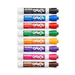 Expo 80078 Low Odor Dry Erase Markers, Chisel Tip, Assorted