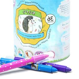 NOYO 36 Colors Gel Crayons for Toddlers and Kids | Non Toxic