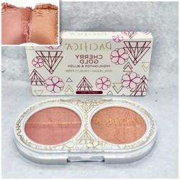 Pacifica Beauty Cherry Gold Highligher & Blush Duo .28oz Ful