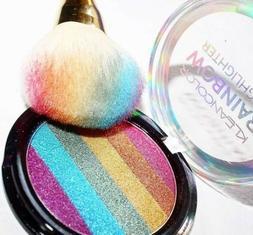 pack of 3 rainbow highlighter blendable shimmer