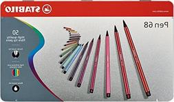 Stabilo Pen 68 Metal Tin, 50-Color Set
