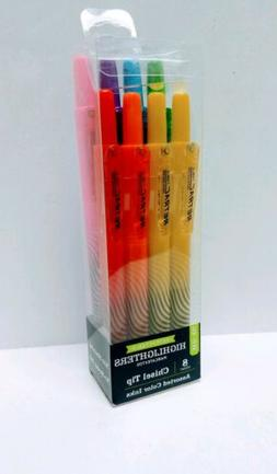 PEN + GEAR Retractable Highlighters 8 Count Chisel Tip Asst
