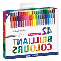 Staedtler 334C42 Triplus Fineliner 42-Color Assorted Super F