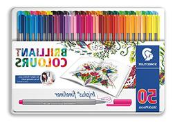 Staedtler Color Pen Set, 334M50JB - Set of 50 Assorted Color