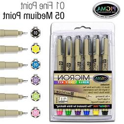 Pigma Micron 01 Fine & 05 Medium Point Bible Study Kit