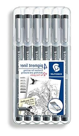 Staedtler Pigment Liner Bonus Sketch Set of 6 Liners for the