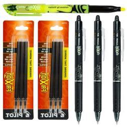 Pilot Frixion Clicker Retractable Erasable Black Gel Ink Pen
