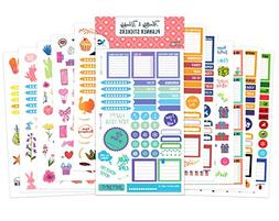 Vladi Creative Planner Stickers - 12 Sheets / 630+ Stickers