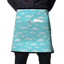Jaylon Pocket Half Length Short Waist Apron Cloud Blue Weath