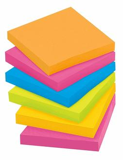 Post-it Super Sticky Notes, 3 in x 3 in, Assorted Bright Col