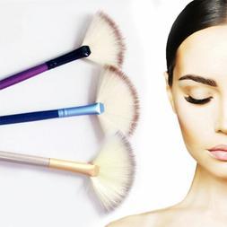 Pro Fan Shape Makeup Cosmetic Brush Blending Highlighter Fac