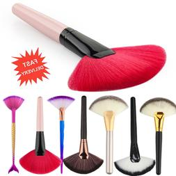 Pro Makeup Cosmetic Fan Brush Blending Highlighter Contour F