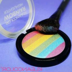 KLEANCOLOR Rainbow Unicorn Highlighter Blendable Shimmer Pow