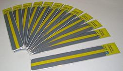 Reading Guide Highlight Strips Package of 12 . Color: Yellow