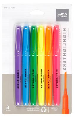 Office Depot Brand 100% Recycled Pen-Style Highlighters, Ass