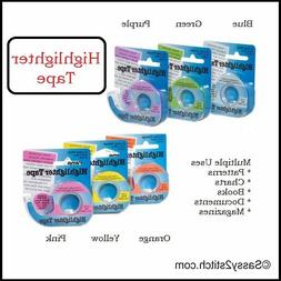Removable Highlighter Tape - Color Choice