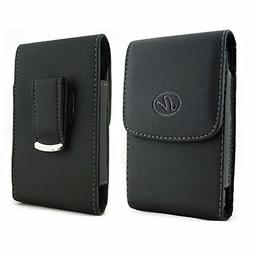 For Samsung Cell Phones Vertical Leather Holster fits w/ Thi