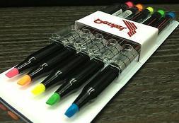 Set Pentel Highlighter Pen 5 Colors Blue Orange Pink Fluores