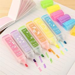 set korean stationery highlighters lovely
