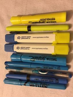set LOT OF 9  MIXED NEW HIGHLIGHTERS MARKERS