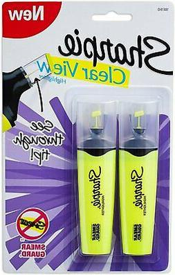 Sharpie Clear View Chisel Tip Highlighters, Yellow