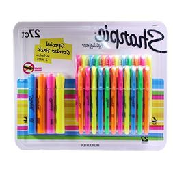 Sharpie Highlighters Assorted Colors, Includes 2 Sizes, 27 P