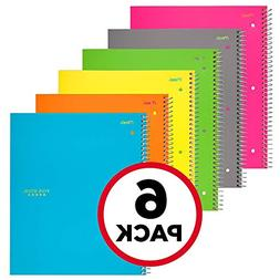 Five Star Spiral Notebooks, 1 Subject, College Ruled Paper,