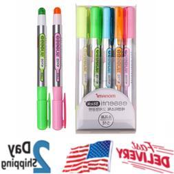 Stick Soft Pastel Color Dry Highlighter Pen Marker 5 Color