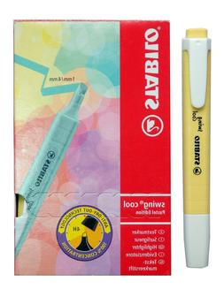 Stabilo Swing Cool Pastel Yellow Color Highlighter Text Mark
