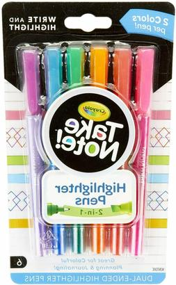 Crayola Take Note Dual Tip Highlighter Pens, Assorted Colors