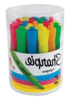 Sharpie Tank Highlighters, Chisel Tip, Assorted Fluorescent,