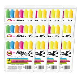 Sharpie Tank Style Highlighters, Chisel Tip, Assorted Colors