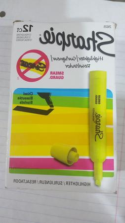 Sharpie Tank Highlighters, Chisel Tip, Fluorescent Yellow, 1