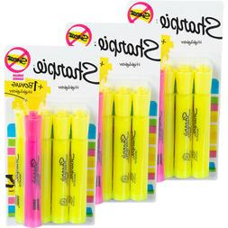 Sharpie Tank Highlighters, Chisel Tip, Yellow, 48-Count + 12