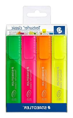 Staedtler Textsurfer Classic Highlighter 4 Color Set of Rain
