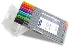 Staedtler Triplus Fineliner Pens - Easel Case Set of 10