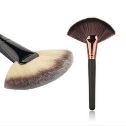 US Fan Shape Cosmetic Brush Blending Highlighter Contour Fac