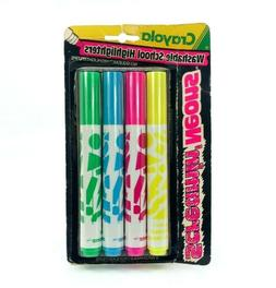 Vintage Crayola Neon Markers 1990 Washable Highlighters Scre