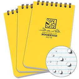 """Rite in the Rain All-Weather Top-Spiral Notebook, 3"""" x 5"""", Y"""