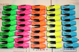 WEXFORD Mini Highlighter markers  Lot of 8  Yellow, Pink, Gr
