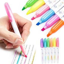 Six colors Highlighter Pen Gel Bible Highlighter Colored Mar