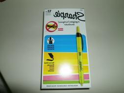 Yellow Highlighter Markers-Sharpie Fluorescent  12 Narrow Ch